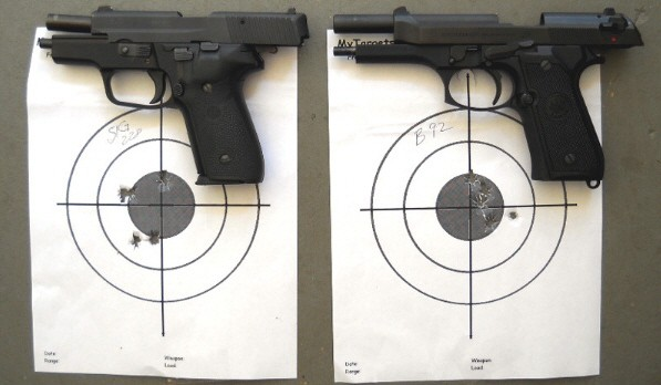 SIG P228 and Beretta 92F Accuracy Test - The Old Deer Hunters